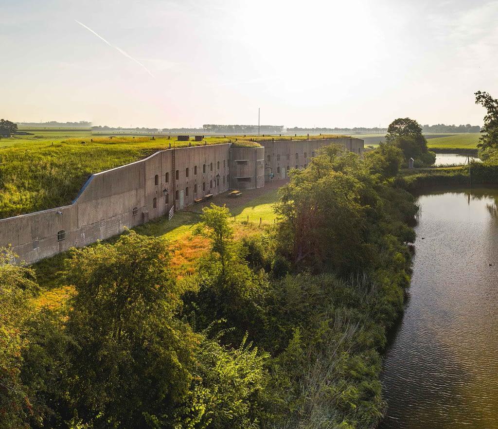 De keelzijde van het Fort bij Spijkerboor